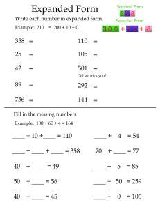 advanced math for young learners teaching 3 digit