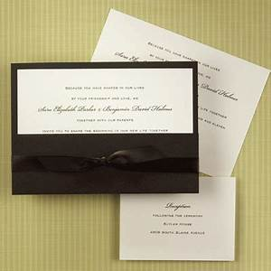 wrapped pocket wedding invitations quotmochaquot With pocket book wedding invitations