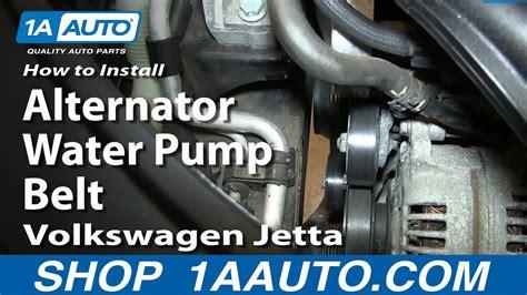 replace alternatorwater pump belt