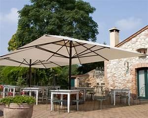 Parasol De Terrasse : grand parasol capri pour terrasse et piscine en alu 5x5m 5x6m et 6x6m ~ Teatrodelosmanantiales.com Idées de Décoration