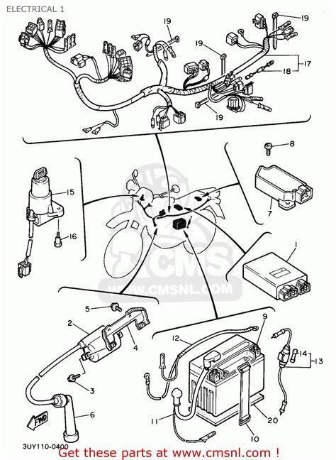 yamaha xt600e 1991 m usa electrical 1 buy original electrical 1 spares