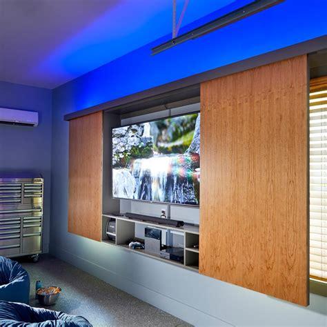 super simple garage tv cabinet family handyman