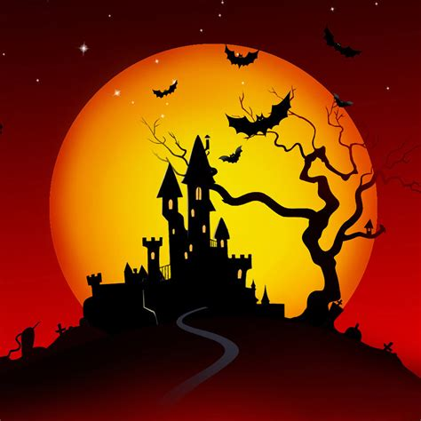 Halloween Castle Ipad Air 2 Wallpapers