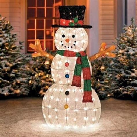 buy sale  outdoor lighted pre lit snowman sculpture
