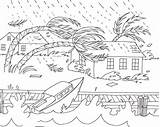 Coloring Natural Disaster Sheets Disasters Hurricane Drawing Nature Printable Tornado Hurricanes Draw Crafts Stories Weather Wizard sketch template