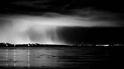 Rain Clouds Sea Night Water Mobile Wallpapers