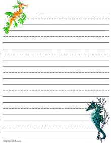Free Kids Writing Paper Template