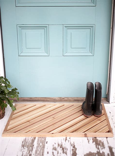 wooden doormats diy wood doormat the merrythought