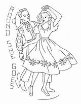Embroidery Square Dance Coloring Yee Patterns Haw Pages Dancing Flickr Goes Round She Read sketch template