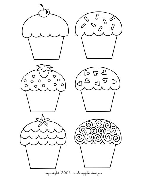 coloring pages cupcake coloring pages