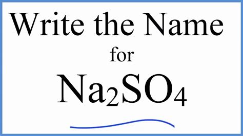 how to write the name for na2so4 sodium sulfate youtube