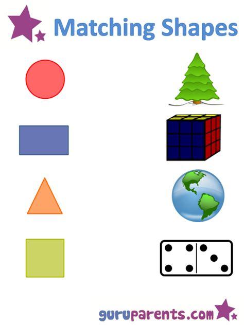 shapes worksheets  flashcards guruparents