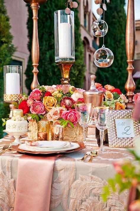 Rose Gold Wedding Inspiration Gold wedding decorations