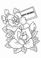 Coloring Birthday Sheet Mothers Cards Mother Flowers Colouring Sheets Flower Happy Printable Drawings Card Adults Clipartqueen Elegant Coloringpages sketch template