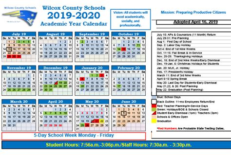 school calendar announced wilcox county schools