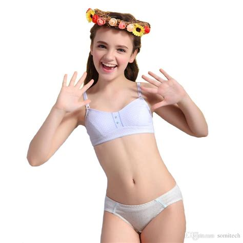 2016 puberty set breathable cotton bra and matching for s1045