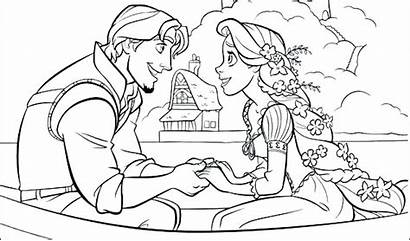Rapunzel Coloring Tangled Pages Printable Disney Colouring