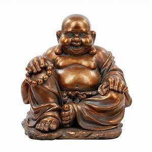 Statue Bouddha Pas Cher : statue bouddha rieur 36cm cuivre ~ Teatrodelosmanantiales.com Idées de Décoration