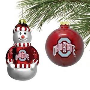 ohio state buckeyes glass ornament set christmas decorations and sp