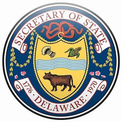 Delaware State Department Seal Business Transparent Secretary
