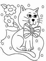 Coloring Pages Cats Animals Cat sketch template