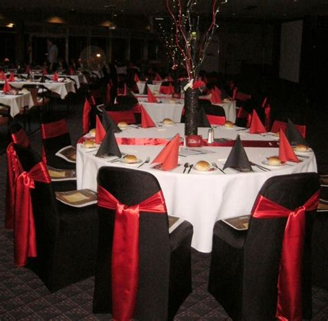 red and black wedding theme table decoration wedding