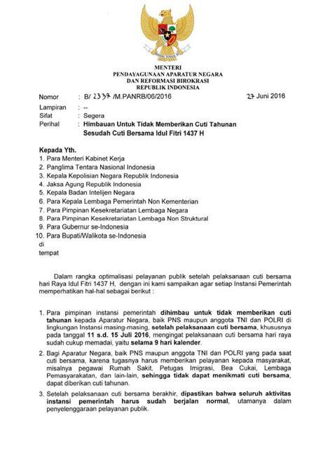 contoh surat resmi menggantung