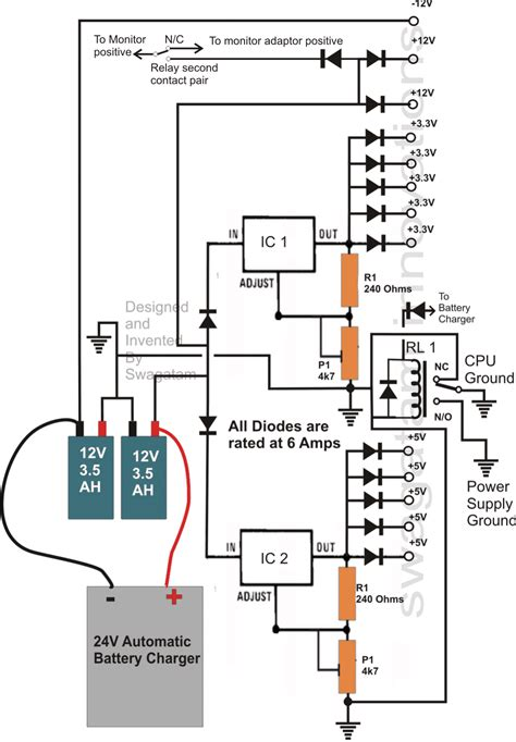 transformerless ups circuit for computers cpu circuit projects
