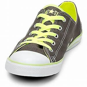 Perfect Converse All Star Dainty Neon Ox Womens Charcoal