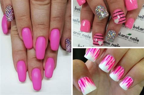 pink nails designs the gallery for gt pink nails with black tips