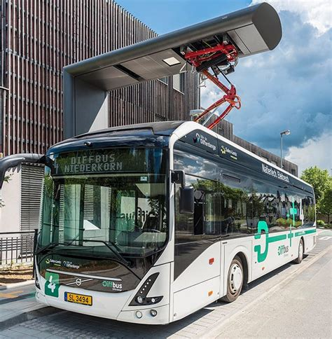 large fleet   fully electric volvo  buses