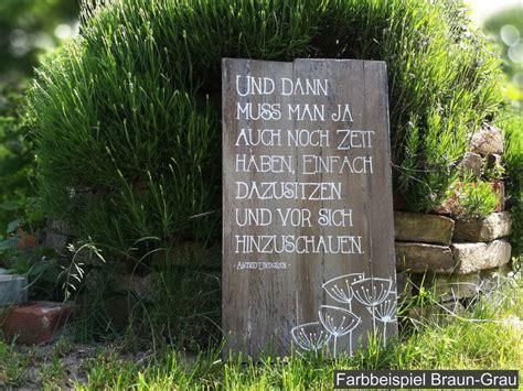 Gartendekoration  Gartendeko Holz Sprüche Dekoschild Xl