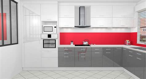 cuisine et blanche cuisine gris anthracite et