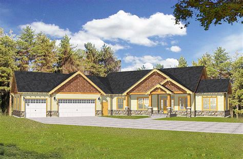craftsman  vaulted ceilings  angled garage dt architectural designs house plans