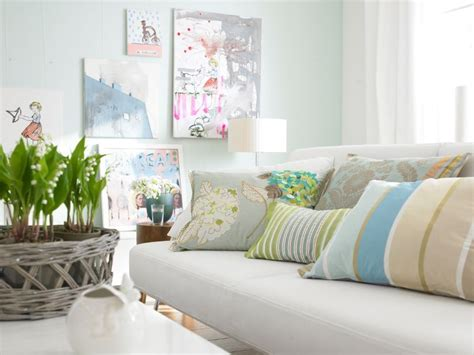 Living Room In Pastel Shades