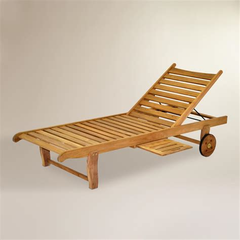 sawarna teak outdoor chaise lounge world market