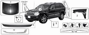 Explosionszeichnung Aussen Jeep Wk  Wh Grand Cherokee 2005  2010