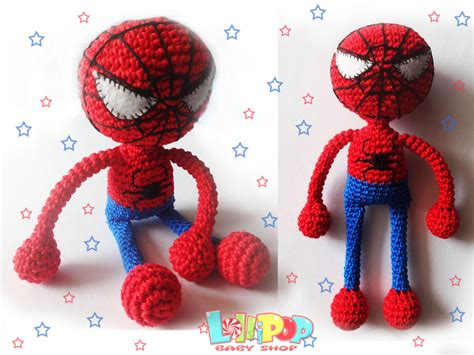 Spider Man Toy For Boy Marvel Comics Crochet Spider-man Doll