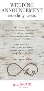 wedding invitation wording exles wedding announcement wording invitations by