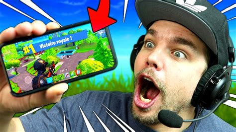 fortnite battle royale sur telephone iphone  mobile