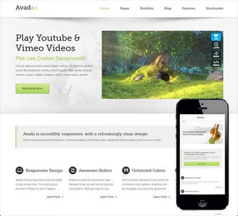 Avada Theme How To Custom Templates From 4 To 5 by 30 Great Themes With Useful Page Templates