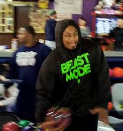 marshawn lynch bowling gif find share  giphy