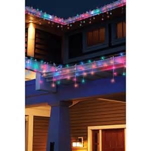 holiday time led twinkle icicle light set multicolor walmart com
