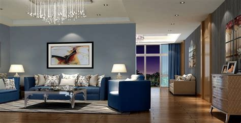 Living Room With Blue Decor by Modern Living Room With Blue Sofa Home Decor Decor