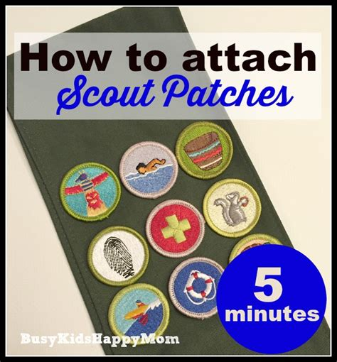the secret to putting on scout badges
