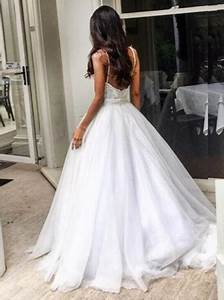 buy elegant sweep train backless wedding dress with lace With backless bra for wedding dress