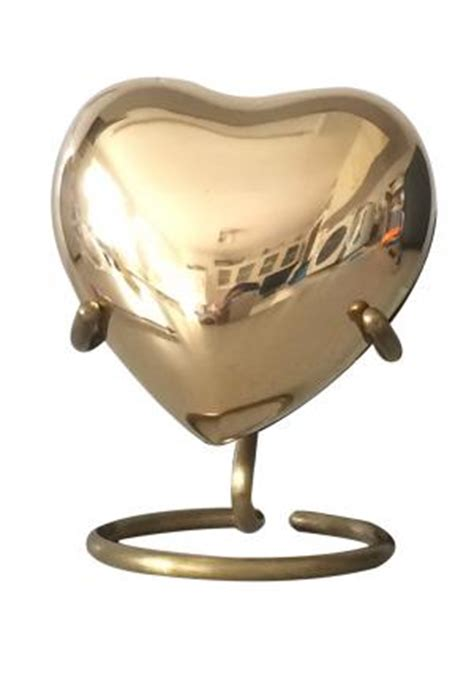 cost classic gold plain heart memorial urn  ashes