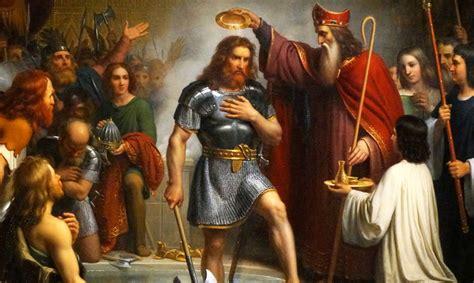 siege d eglise le bapteme de clovis et des 3000 soldats de sa garde