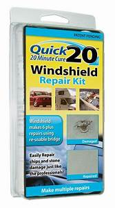 Quick 20 Windshield Repair Kit  20 Minute Cure