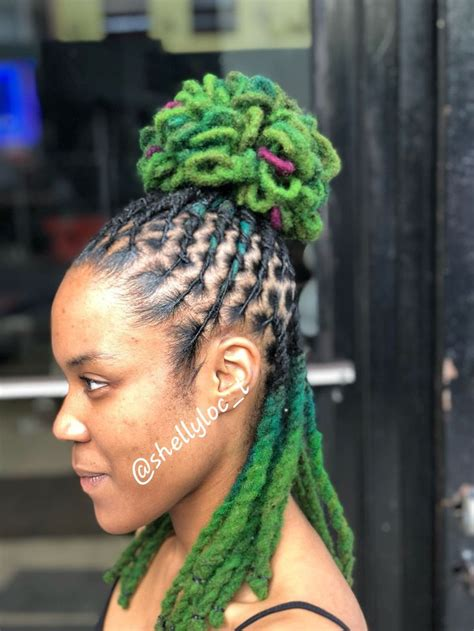 colored locs   dread hairstyles hair styles